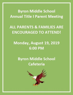 BMS Annual Title I Parent Meeting Invite