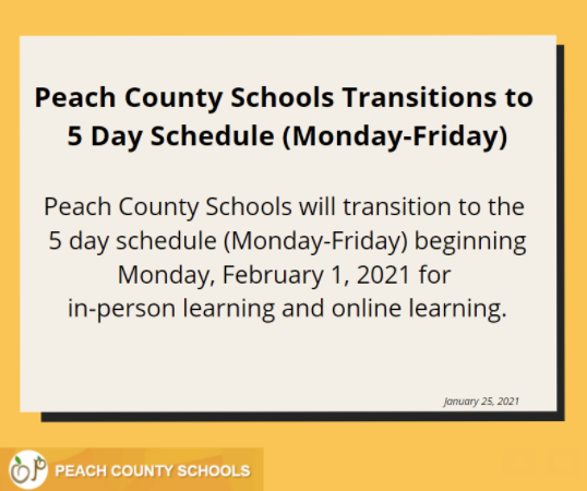 Schools Return to 5 Days of Instruction