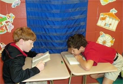 KRES Students reading
