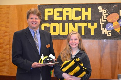 PCSD superintendent with spellingbee champion