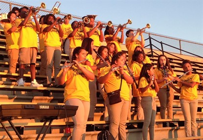 Band Performing at FVMS/BMS Football Game