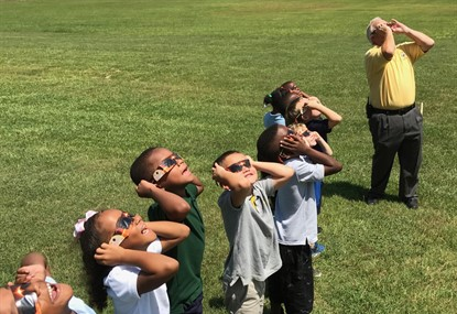 Eclipse Watchers with Mr. Lauritsen