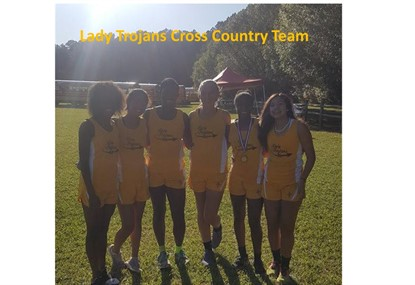 Lady Trojans Cross Country Team