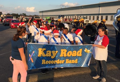 Recorder Band in Christmas Parade 12/02/17