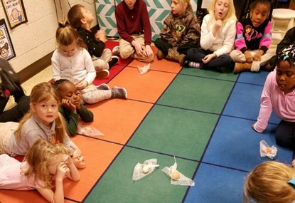 Kindergarteners Learning about Egg Incubation
