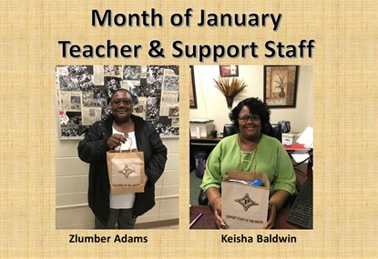 Teacher & Support Staff for January