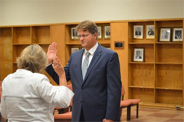 Superintendent swearing in