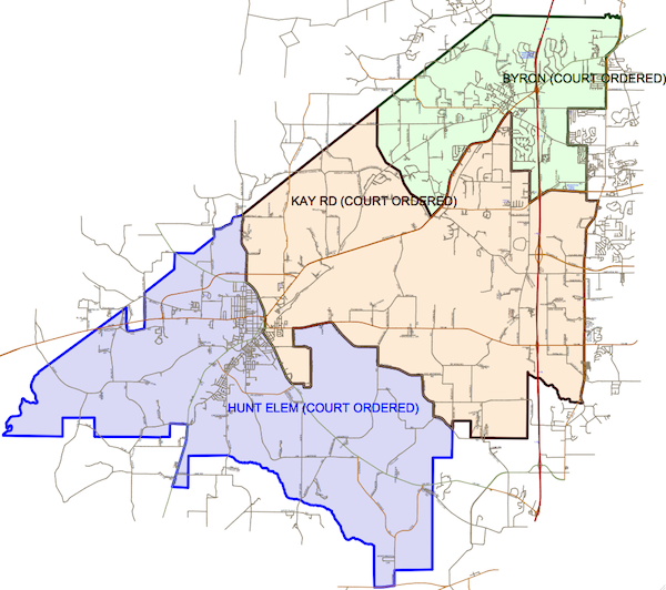 District Boundary Map Peach County Schools