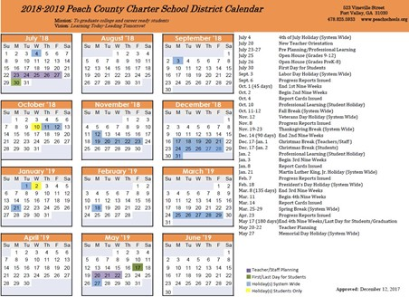 the 2018 2019 school calendar has been approved click here to download a copy