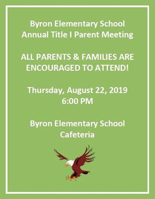 BES Annual Title I Parent Meeting Invite